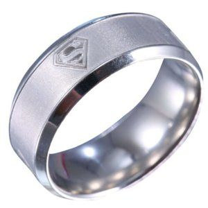 Other - Stainless Steel Superman Ring Size 12